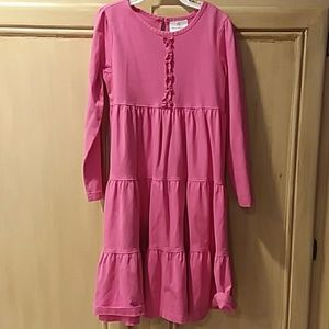 Hanna Andersson size 6/7 (120) pink ruffle dress